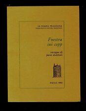 FNESTRA SUI COPP Rassegna di poesie dialettali Parma 1980