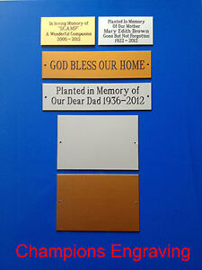Memorial Plaques - Choice of Colours & Sizes - *FREE P&P & ENGRAVING*