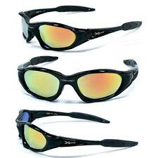 New XLoop Mens Womens Sports Sunglasses UV Protect - Black Frame Fire Lens  X5