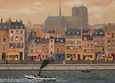 "Michel Delacroix "" Bord de la Seine"" Lithograph SN Art"