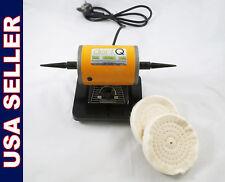 Dental Laboratory Lab Jewel Polisher Mini Bench Buffer Motor 003 1 Dentq 110v
