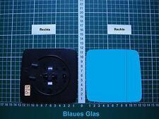 Außenspiegel Spiegelglas Ersatzglas Mercedes W124 Rechts asph Kpl.beheizt Blau