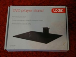 Logik LSHELF15 DVD Player Stand Tempered Glass 10kg Capacity Cable Management