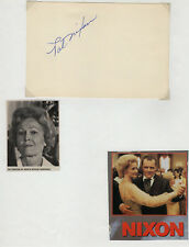 Pat Nixon US First Lady Signed Autographed Index Card, Melchior Collection