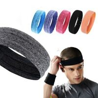 1Pc Running Sport Sweatband Elastic Yoga Fitness Gym Headband Hair Wrap~