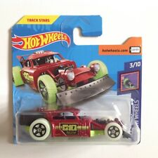 Hot Wheels Glow Wheels Aristo Rat Track Stars 1:64 Scale Die-cast Model Car RED