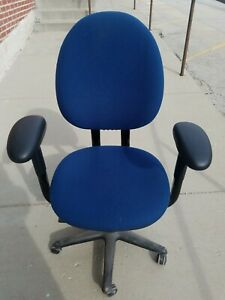 Blue Steelcase Citreon Style Office Study Computer Desk Chair