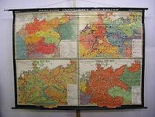 Wandkarte Deutsche Landschaft u Kultur 1938 Reich 215x160cm Wehrmacht Lehrmittel