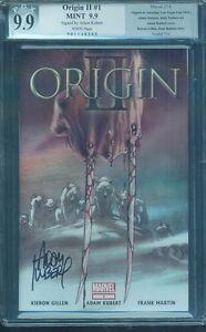 Wolverine 1 Origins II PGX CGC SS 9.9 1st Print Andy Kubert Sign better than 9.8