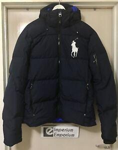 Men's Polo Ralph Lauren Tyrol Jacket Down Fill Coat Aviator Navy Size L & XL