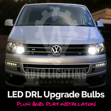 For VW T5 Transporter 2010+ DRL LED Headlight light Bulbs Xenon White *SALE*