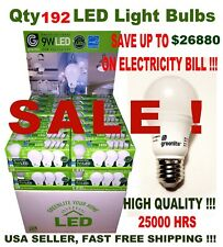 192 LED Light Bulbs GREENLITE 9W / 60W Equivalent Soft White 3000K A19 Dimmable