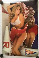 "RaRe. vintage Student Body Cheerleader poster 23x35"" cave dorm pinup 80s (1989)"