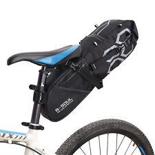 Waterproof Cycling Bicycle Bike Seat/ Saddle Bag Large Pocket Bags Black