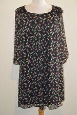 Robe en voile noir & motifs DIVILUNE T 42