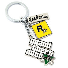 Hot Grand Theft Auto V GTA 5 LOGO Keychain Key ring Pendant Collectible Gift