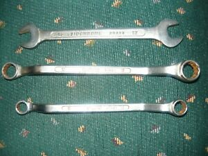 3 x Metric Sidchrome Spanners 1 Open & 2 Ring