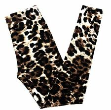 NWT Buttery Soft Leopard Tiger Animal Print Leggings One Size S M L Cheetah OS