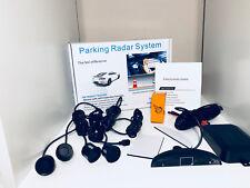 Negro Inalámbrico De Sensores De Aparcamiento de Coche Marcha Atrás Pantalla LED de 4 Sensores De