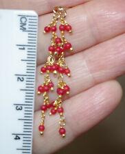 Seed Coral Earrings Jackets Cc Handmade 14K Gf Italian Red