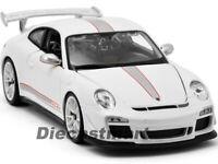 BBURAGO 1:18 11036 PORSCHE 911 997 GT3 RS 4.0 DIECAST MODEL CAR WHITE