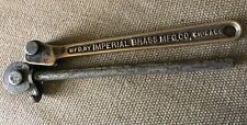Imperial Brass 14 Od 916 R Tubing Pipe Bender Rare Brass Handle Made In Usa