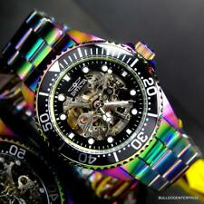 Invicta Pro Diver Skeleton Exhibition Iridescent Steel 43mm Automatic Watch New