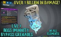 Borderlands 3 Modded LVL 1 Boss Immunity Bypass Grenades🩸All Elements  XBOX PS4