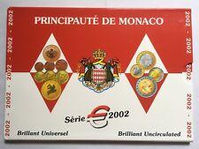Monaco 2002 Cent - 2 Euro 8 Coins Mint Set