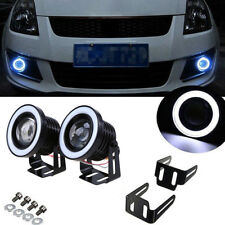 "Pair 3.5"" COB LED Fog Light Projector Car Angel Eyes White Halo Ring DRL Lamp CY"