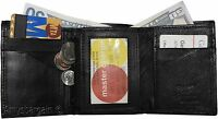 Men's Wallet. Leather Tri-fold Wallet, 8 card 2 ID coin case 2 Billfold wallet.