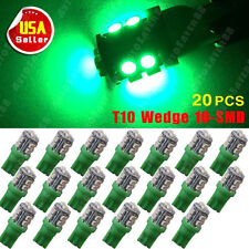 20x Tree Green T10 5050 10-SMD LED for Car Interior License Dome Car Light bulbs