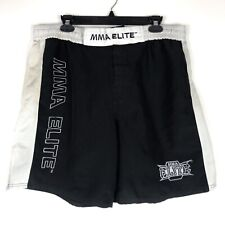 Mma Elite Shorts Mens Black Athletic Training Workout Muay Thai Crossfit Size Xl