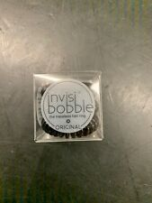 4 Packs Invisibobble Original Traceless Hair Ring True Black 3 rings a pack (12)