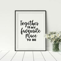 Wall Quote Print A4 Oasis Wonderwall Love Marriage Couple Music Home Gift*3FOR2*
