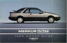 1985 Merkur XR4TI Owners Manual User Guide