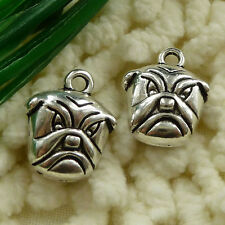 free ship 180 pcs tibetan silver dog charms 14x12mm #2631