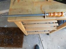 R H FORSCHNER 12 INCH SHARPENING STEEL MADE IN USA HARD WOOD HANDLE WITH RING