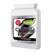 Charbon Actif Capsules 300mg Détox Aide à la Digestion Pyrosis Vent Purvitz Gb
