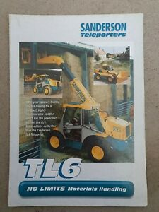 SANDERSON TL6 TELEPORTER SALES BROCHURE