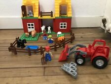 DUPLO @@ La Grande Ferme + Le Grand Tracteur + 3 Personnages + 7 Animaux TBE