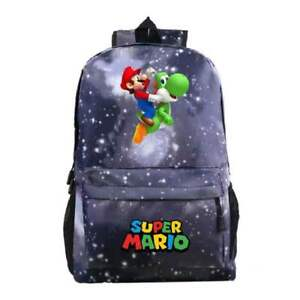 Super Mario Kids Backpack, School Bag for Boys and Teenager, Star Grey