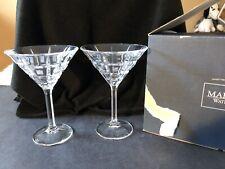 "2 Waterford Crystal ""Quadrata� Martini Glasses"