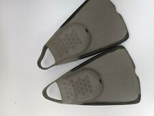 Grey Children's Open Heel Flippers Size Medium