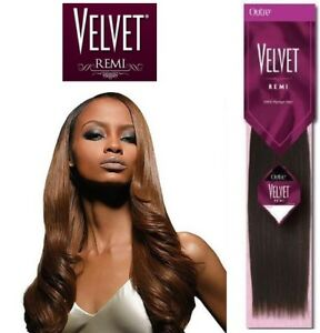 "Outre VELVET REMI YAKI 100% Remi Human Hair 10""(1,1B), 18""(1B)"