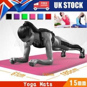 Exercise and Yoga Mat -15mm Non-Slip Gym Mat for Fitness, Workouts, Yoga, Pilate