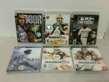 Lot Of 6 PS3 Video Games Madden 9,11 &12 , MLB THE SHOW 08,14 & NFL TOUR
