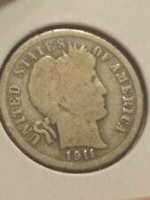 1911 Barber Silver Dime in a - Fine- (Vg+)