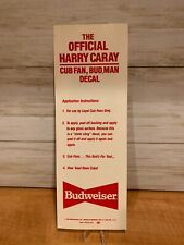 Official Harry Caray Cubs Fan Bud Man Chicago Cubs Decal