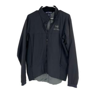 Arcteryx Jacket Black Men's Full Zip Long Sleeves Windbreaker Lightweight Sz S